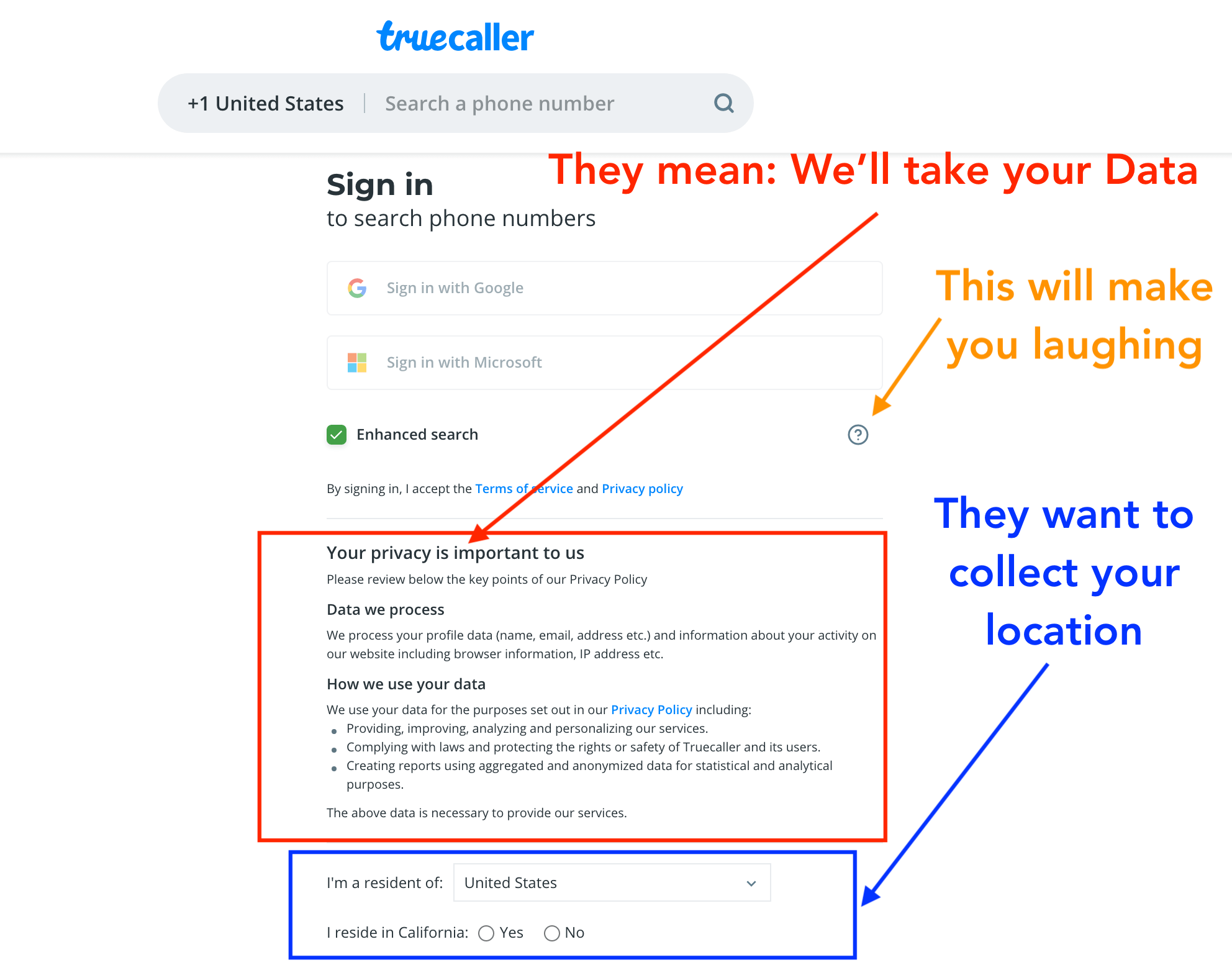 Truecaller is not for free