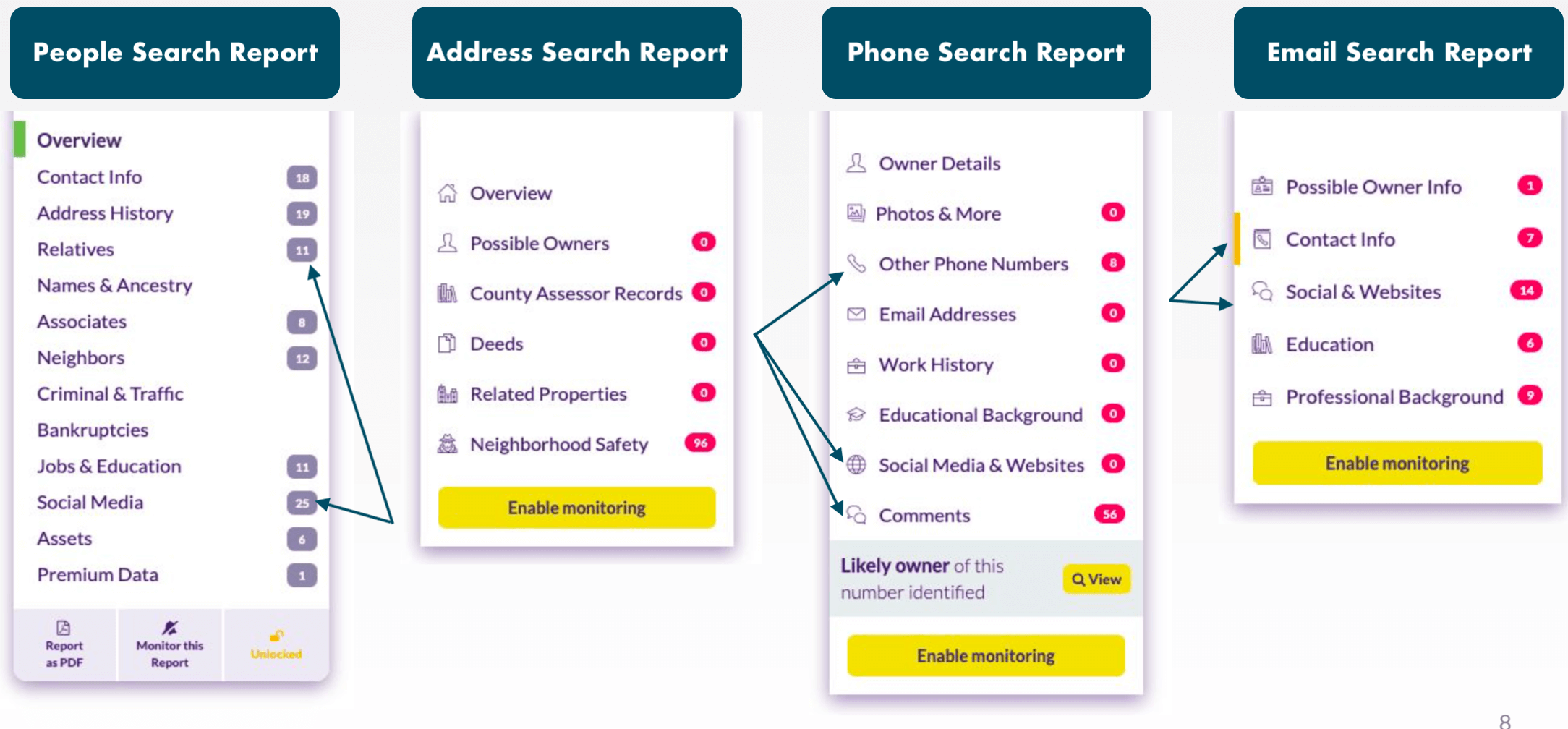 example of search report