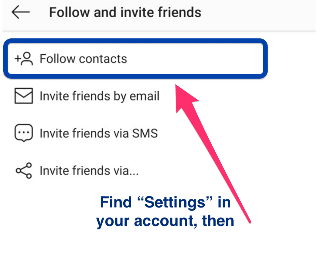 How to find a person on Instagram by phone number